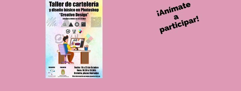 """Taller de cartelería y diseño básico en photoshop """"Creative design"""""""
